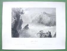 1853 AD Hewitt Piano Forte New Orleans LA & BARTLETT View of Split Rock Canada