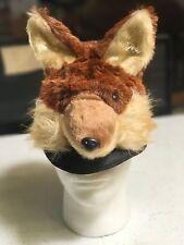 FOX HAT adult Halloween Costume ski cap unisex animal red foxy mens womens plush
