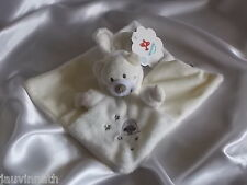 Doudou ours déguisé en lapin, blanc, écru Nicotoy