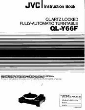JVC QL-Y66F TURNTABLE ULTRA RARE OWNERS MANUAL ~LOOK~ !!!