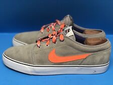 Nike Toki Low Leather Casual Sneakers Men's 12 555270-006 Gray Orange Lacrosse
