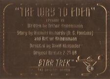 Star Trek TOS Season 3 - G75 'Gold Plaque' Chase Card