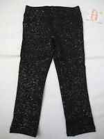 Jumping Beans Black Glittery Sparkling Cotton Jeggings Pants Size 2T New