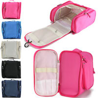 Travel Makeup Cosmetic Bag Toiletry Wash Case Organizer Storage Hanging Pouch