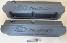 Ford Performance 302-135B Cast Aluminum SB Ford Valve Covers, Stealth Black,Tall