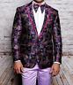 Men Insomnia Manzini Blazer Stage Performer Singer Prom MZS305 Fuchsia Floral
