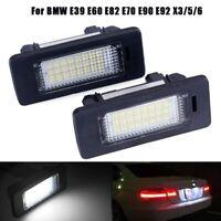 2Pcs LED Premium Kennzeichenbeleuchtung Für BMW E39 E60 E82 E70 E90 E91 E92