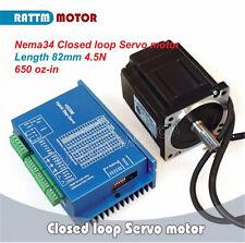 Nema34 4.5N.m Closed Loop Servo Motor 82mm 6A & HSS86 Hybrid Driver AC CNC Kit