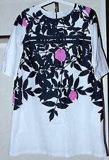 Marimekko SAMU JUSSI KOSKI Ruusupuu Pattern Lined Dress With Pockets Sz 38