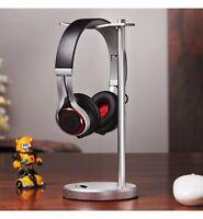 Solid Base Classic Aluminum Desktop Headphones Stand for Beats JBL Bose (Silver)
