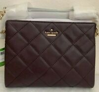 NWT KATE SPADE Emerson Place Mini Phoebe Leather Shoulder Bag $328 Dark Mahogany