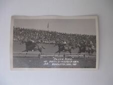 RPPC  INDIANS  NATIVE AMERICANS  SQUAW RACE ROUND UP PENDLETON OR 1921 HORSE