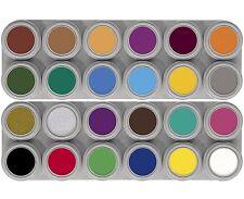 """Grimas Pintura de la cara ** 24 Color Agua Maquillaje ** Paletas """"A+B"""""""