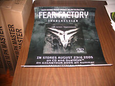 RARE 22x16apx. Promo cd lp dvd. Poster FEAR FACTORY transgression slayer OOP