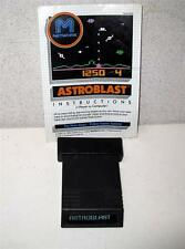 Working Atari 2600 ASTROBLAST Video Game with Booklet