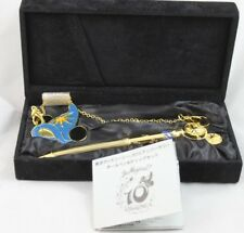 Tokyo Disney Sea 10th Anniversary Golden Wand Pen with Chain Clip - Disney Pen
