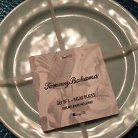TOMMY BAHAMA Melamine Plates  Set Of 4 Sea foam Green  9 Inch  Salad Plates  New