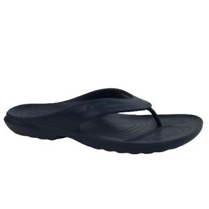 Crocs Coast Navy Blue Croslite Flip-Flops Sandals Men 9, 10  Shoe 206477-410