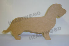 DACHSHUND (WIRE HAIRED) DOG SHAPE  IN MDF (18mm thick)/WOODEN CRAFT SHAPE/BLANK