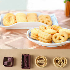 4x Classic Danish Cookies Shape Fondant Cake Cutter Cookie Cake Baking Mold Set