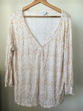 Mothercare Moda Size 18 Natural White Pattern Maternity Top <T11119