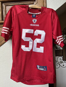 NFL REEBOK ONFIELD 49RS JERSEY RED 52 WILLIS YOUTH 10-12 LARGE
