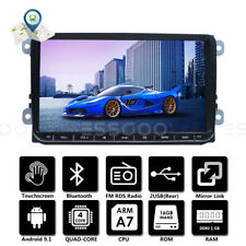 "9"" Autoradio Android 9.1 Bluetooth RDS GPS Navi Para VW GOLF 5 6 Passat Touran"