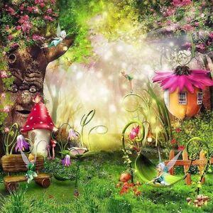 6x8ft Fairy Tale Wonderland Forest Elf Mushroom Photo Studio Backdrop Background