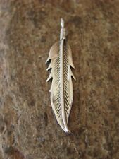 Navajo Indian Jewelry Sterling Silver Feather Pendant! Handmade