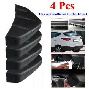 Car Diffuser Rear Bumper Triangle Sticker PVC Anti-collision 4Wing Lip Universal