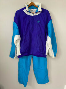 Vintage Nike Full Zip Windbreaker Tracksuit Set + Pants Jacket Women's Large 14