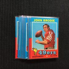 1971 TOPPS SAN FRANCISCO 49ERS TEAM SET 10 CARDS  NM+ SET  GENE WASHINGTON +