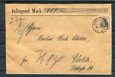 Wertbrief Deutsches Reich 30 Pfg. Germania EF rückseitig Siegel - b2127