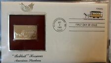 Bobtail Horsecar American Streetcars First Day Issue Gold Stamp in protective sl
