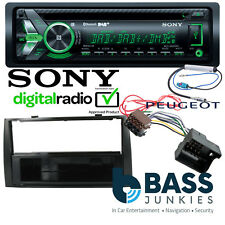 Peugeot 308 2007 On Sony DAB CD MP3 USB AUX In & Bluetooth Car Stereo Black Kit