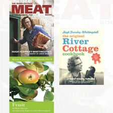 River Cottage Meat Book,Fruit & Xriver Cottage Cookbook 3 Books Collection Set