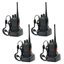Lot 4 Baofeng BF-888S Long Range Walkie Talkie 400-470MHZ Two-Way Radio Intercom