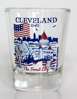 CLEVELAND OHIO GREAT AMERICAN CITIES COLLECTION SHOT GLASS SHOTGLASS