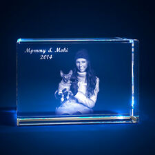 3D Laser Crystal Personalized Etched Engrave Gift For Pet Lovers Landscape MAX
