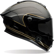 Bell Race Star Ace Cafe Speed Check Motorcycle Helmet & Visor Full Face Racing Matte Black Gold L Clear 7069593