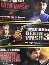 Triple Feature: Death Wish 2 3 4  (DVDS, 2007, 3 Discs Set) Charles Bronson DVD