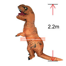 Inflatable T-REX Dinosaur Costume Adult Jurassic Halloween Blownup Fancy Outfit