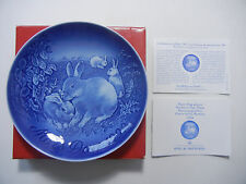 B & G Mother's Day Plate 1999 RABBITS+Original Box+CERTIFICATE (pos-nr. 3)