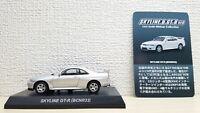 1/64 Kyosho NISSAN SKYLINE GT-R BCNR33 R33 SILVER diecast car model