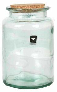 1x HAND MADE Glass jar bottle food container cork Puchades ROUND 1700ML