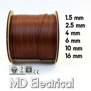 Single Core Conduit Cable 6491X Brown Electrical Wire 1.5 2.5 4 6 10 16 mm