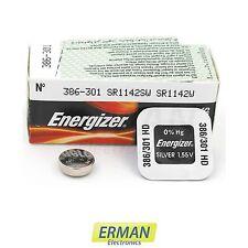 Batteria per orologio Energizer 301 386 HD - SR 43/SR 1142 W da 1.55V pila 301