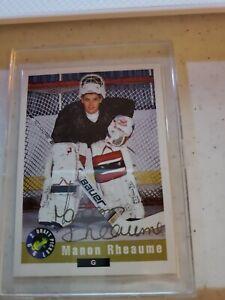 1992 Draft Picks Manon Rheaume Autograph 1993 Convention Chicago