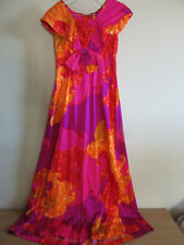 Vintage Tie Dye type Mildreds of Hawaii colorful floral dress Size 6