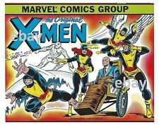 Vintage Marvel Style Guide Print - ORIGINAL X-MEN Beast Iceman Angel Cyclops